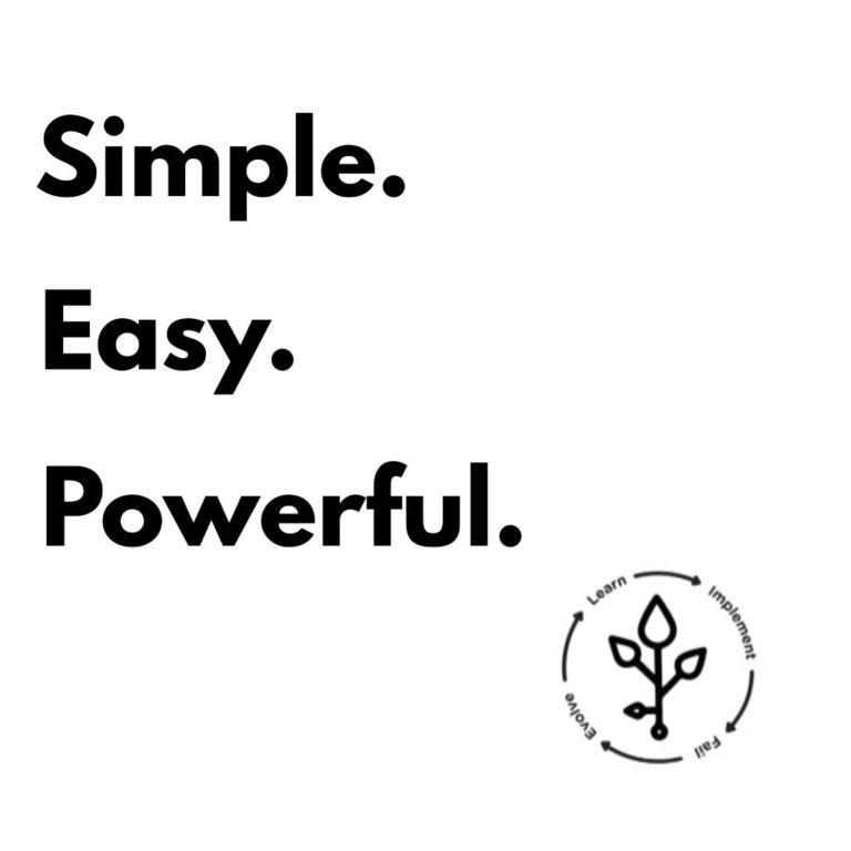 simple, easy, powerful